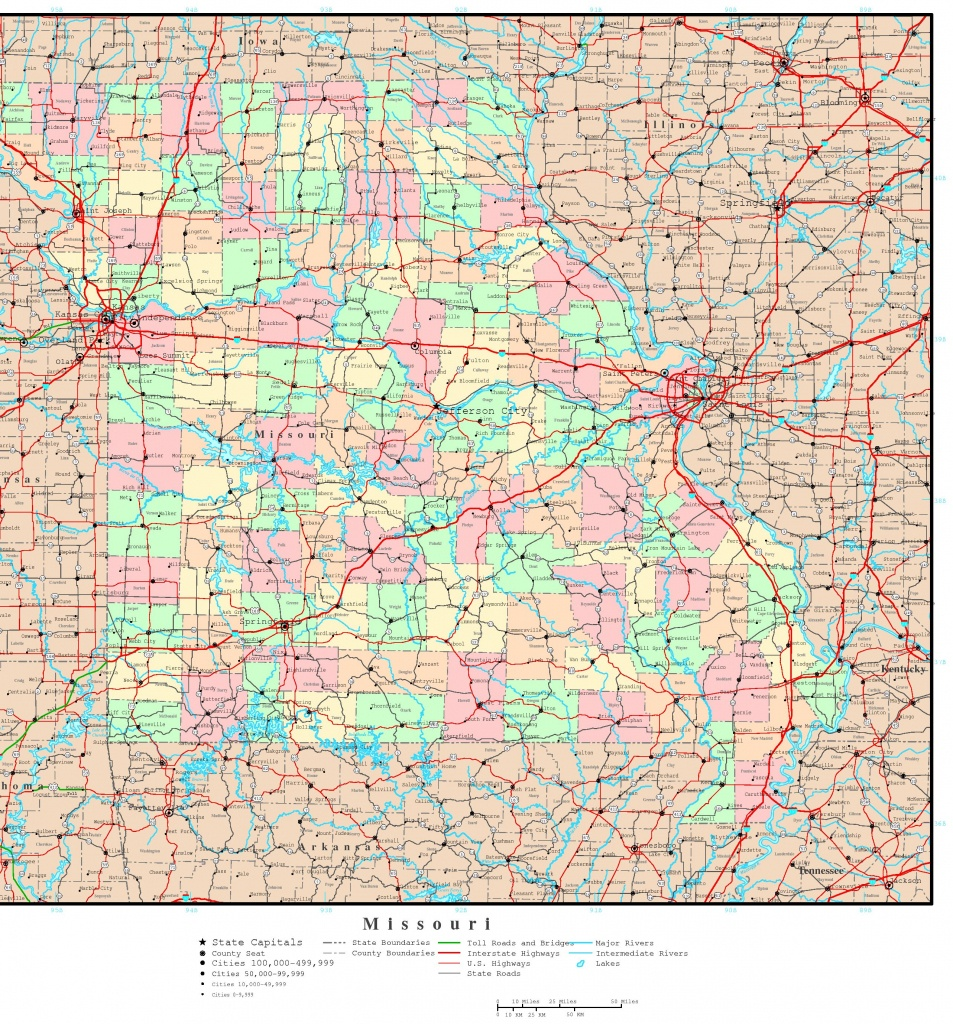 Missouri Printable Map - Printable Blank Map Of Missouri