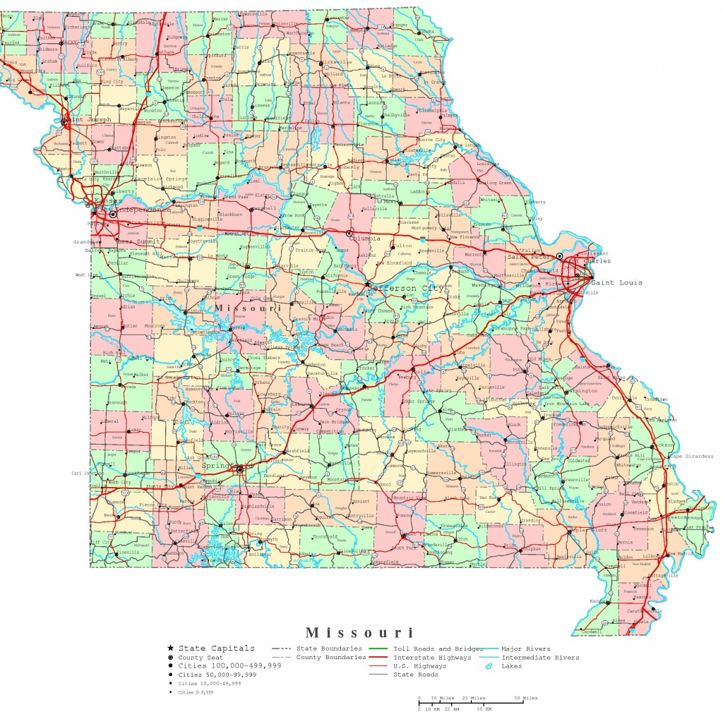 Missouri Printable Map - Printable State Maps With Cities