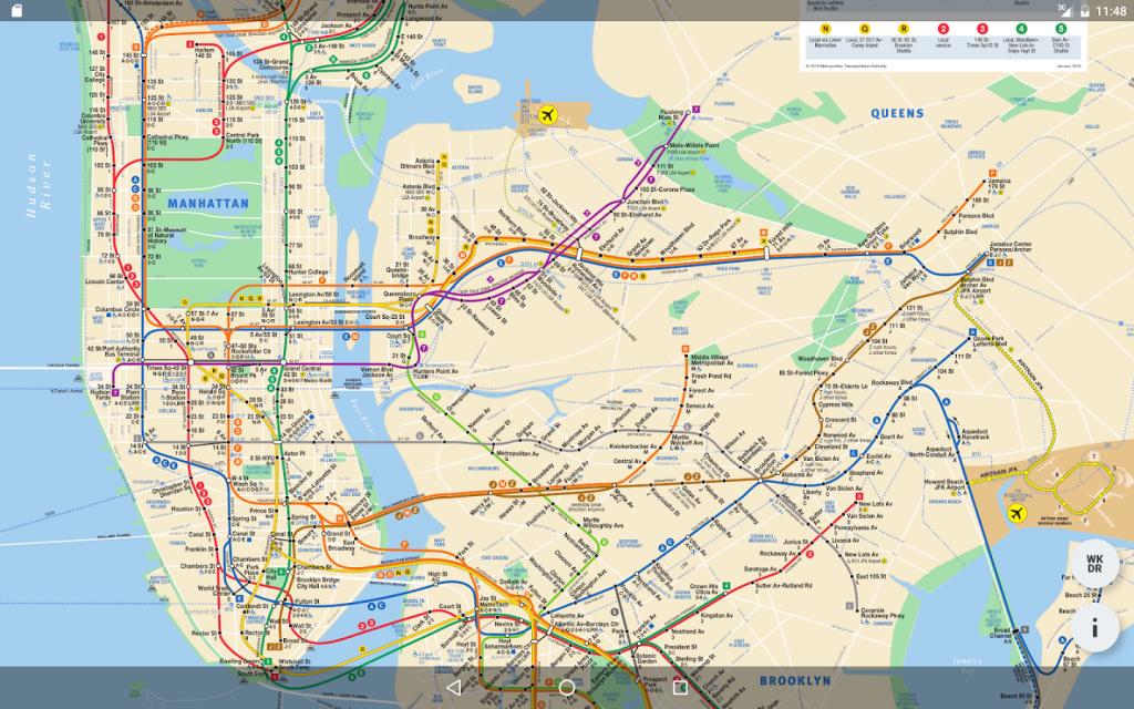 Mobile-Large-Printable-Nyc-Subway-Map - Manhattan Subway Map Printable