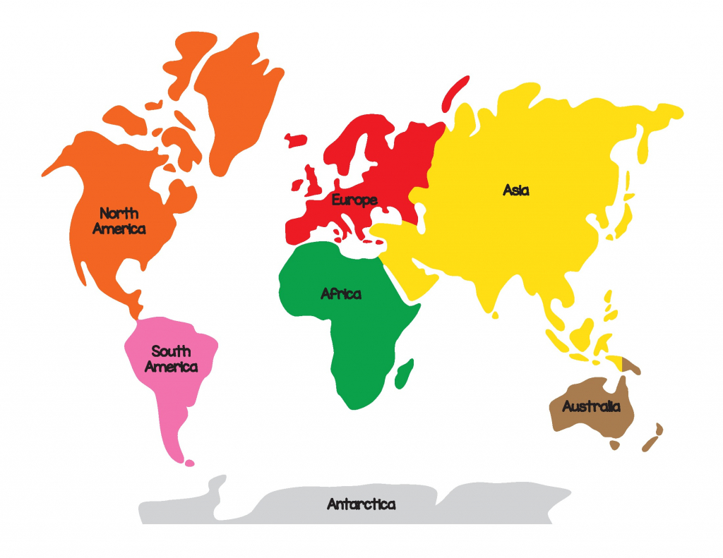 Montessori World Map And Continents Page 04 Asia 5 - World Wide Maps - Montessori World Map Free Printable