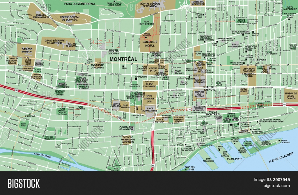 Montreal Downtown Map | Compressportnederland - Printable Street Map Of Montreal