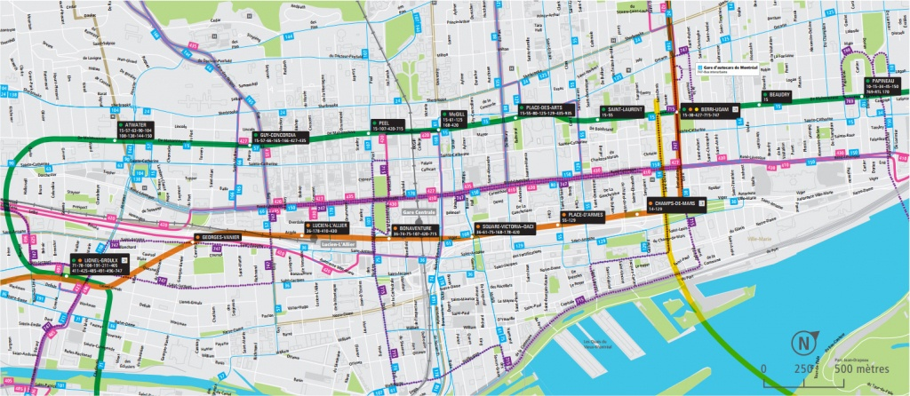 Montreal Downtown Map - Go! Montreal Tourism Guide - Printable Street Map Of Montreal