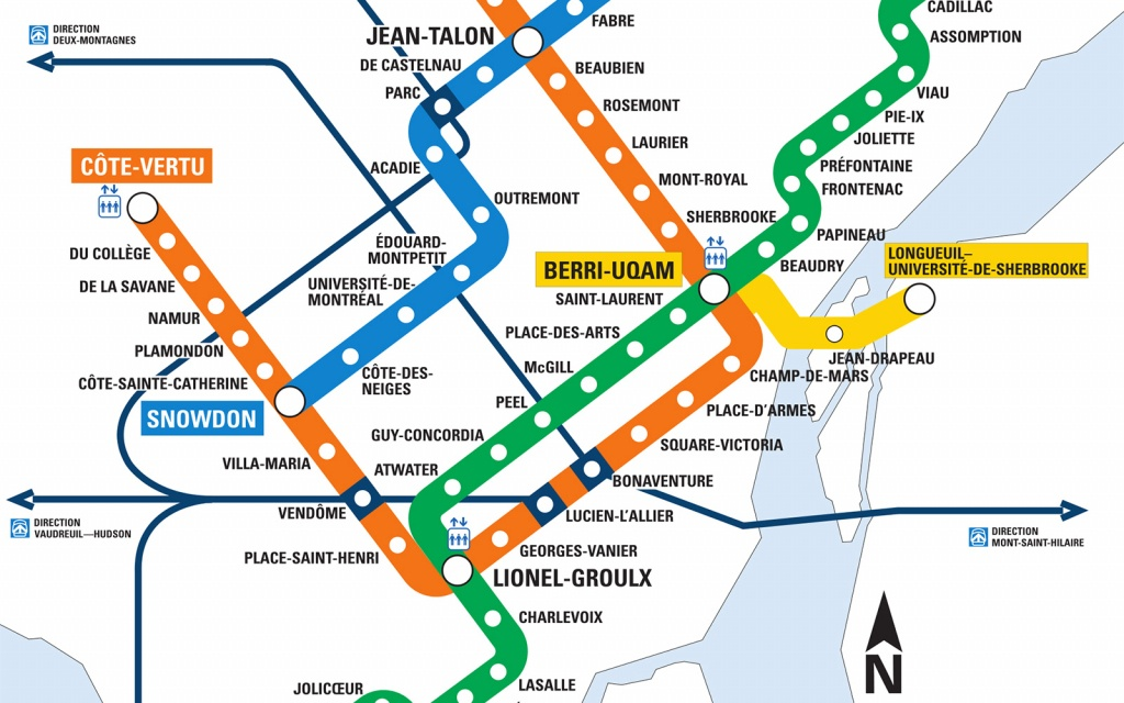 Montreal Metro Map - Go! Montreal Tourism Guide - Montreal Metro Map Printable