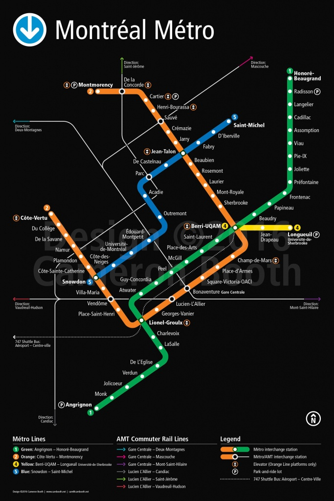 Montreal Metro Map – Large | Transport Schemes | Map, Montreal - Montreal Metro Map Printable
