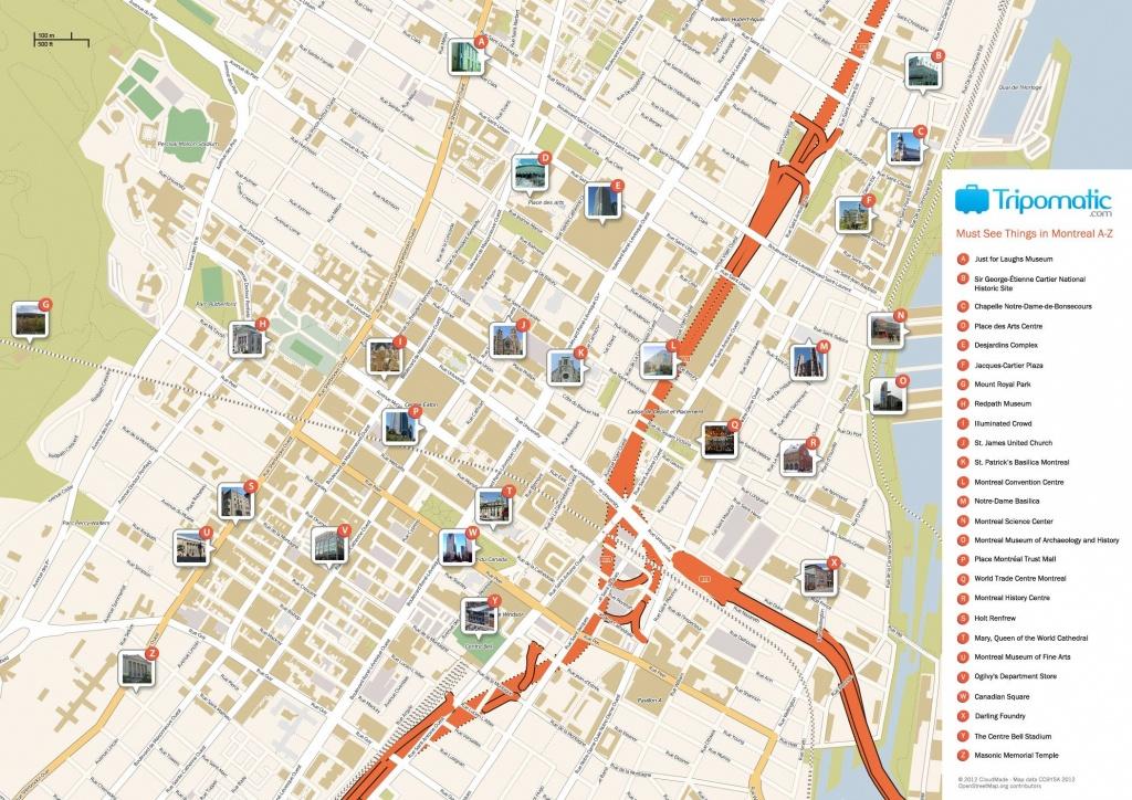 Montreal Printable Tourist Map In 2019 | Free Tourist Maps - Printable Street Map Of Montreal