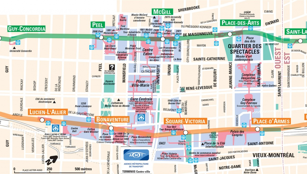 Montreal Underground City Map - Go! Montreal Tourism Guide - Printable Map Of Downtown Montreal