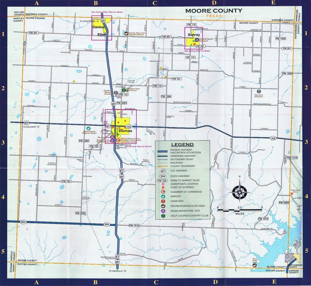 Moore County Area Map - Dumas Texas Map