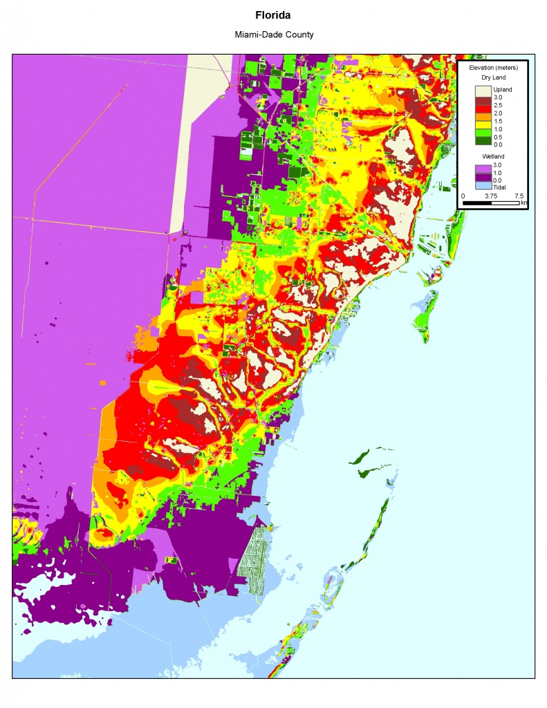 More Sea Level Rise Maps Of Florida's Atlantic Coast - Florida Sea Level Map
