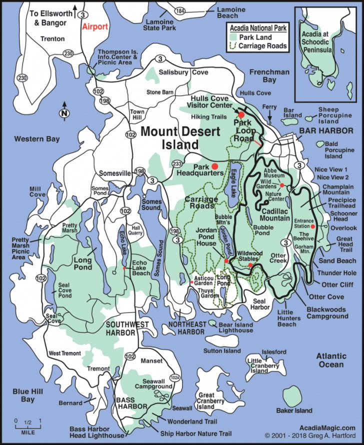 Printable Map Of Maine Lighthouses