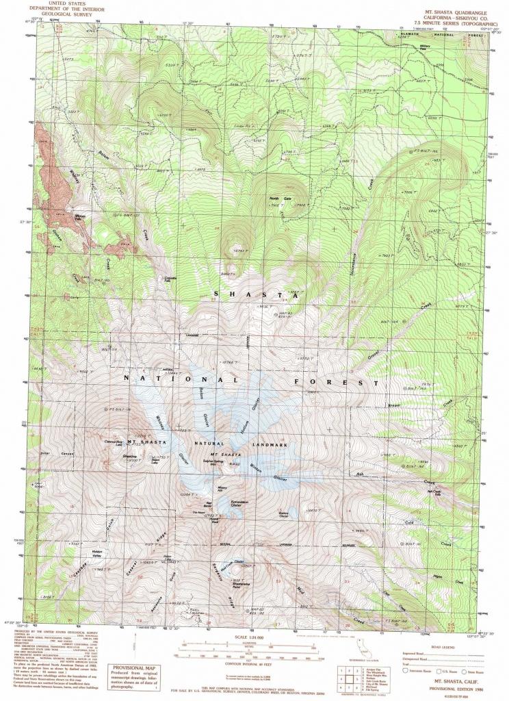 Mount Shasta Topographic Map, Ca - Usgs Topo Quad 41122D2 - Mount Shasta California Map