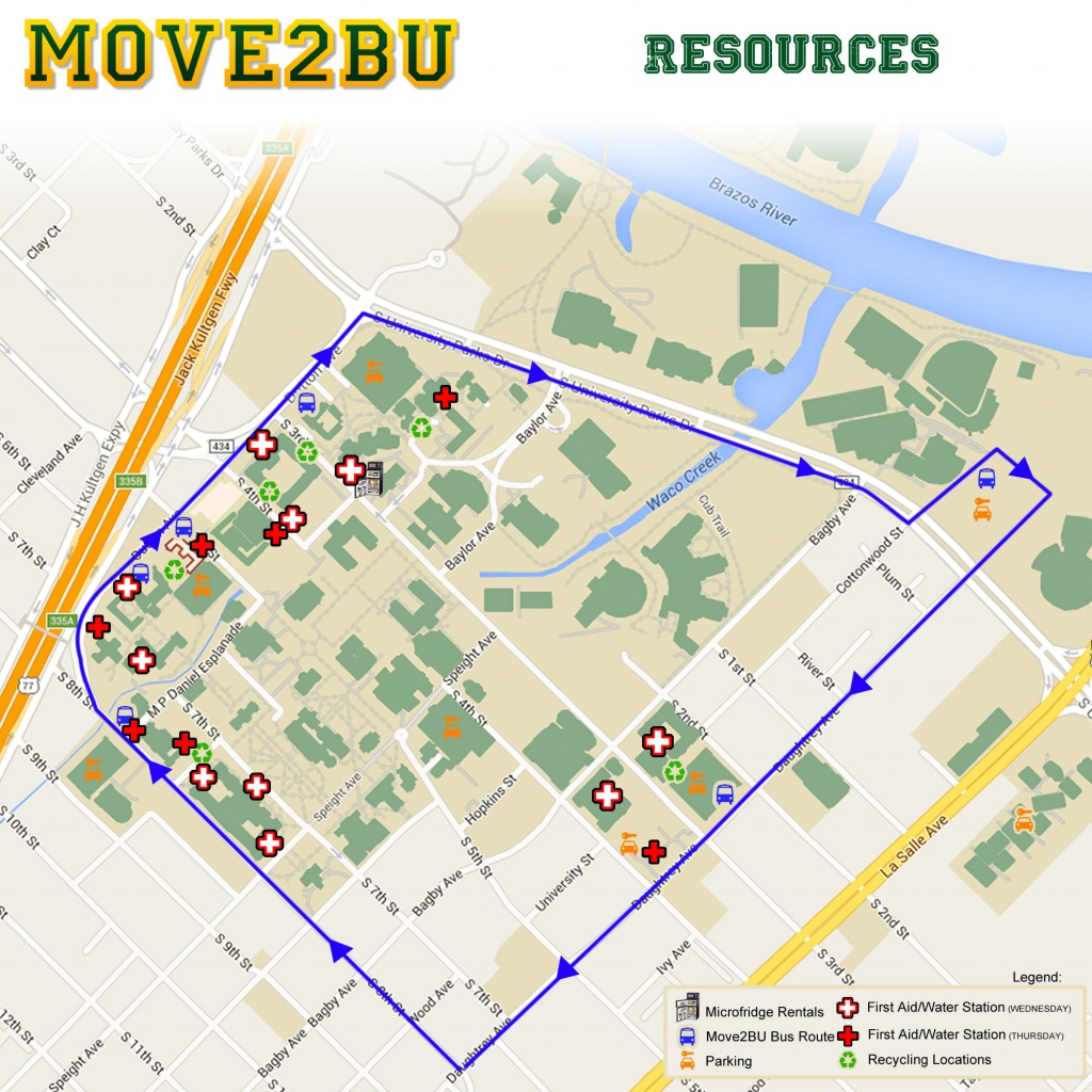 Move-In | Campus Living & Learning | Baylor University - Texas Tech Housing Map