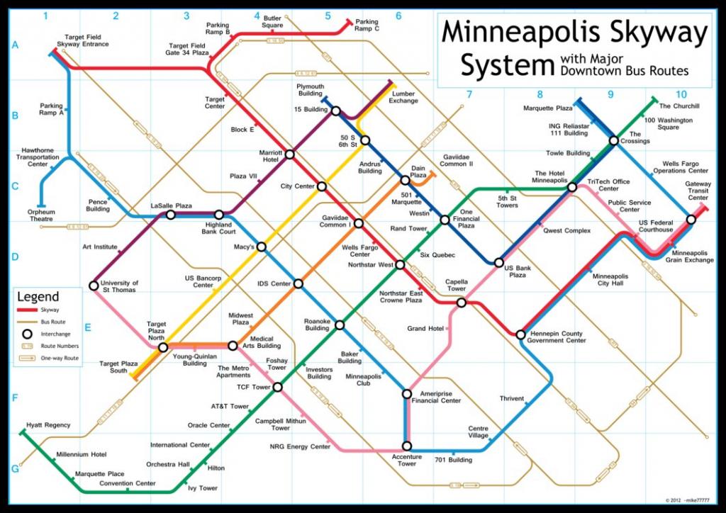 Mpls Skyway Map | Compressportnederland - Minneapolis Skyway Map Printable