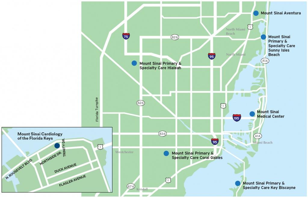 Msmc All Locations Map - Mount Sinai Medical Center - Locations - Sunny Isles Beach Florida Map