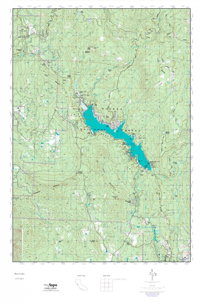 Mytopo Bass Lake, California Usgs Quad Topo Map - Bass Lake California Map