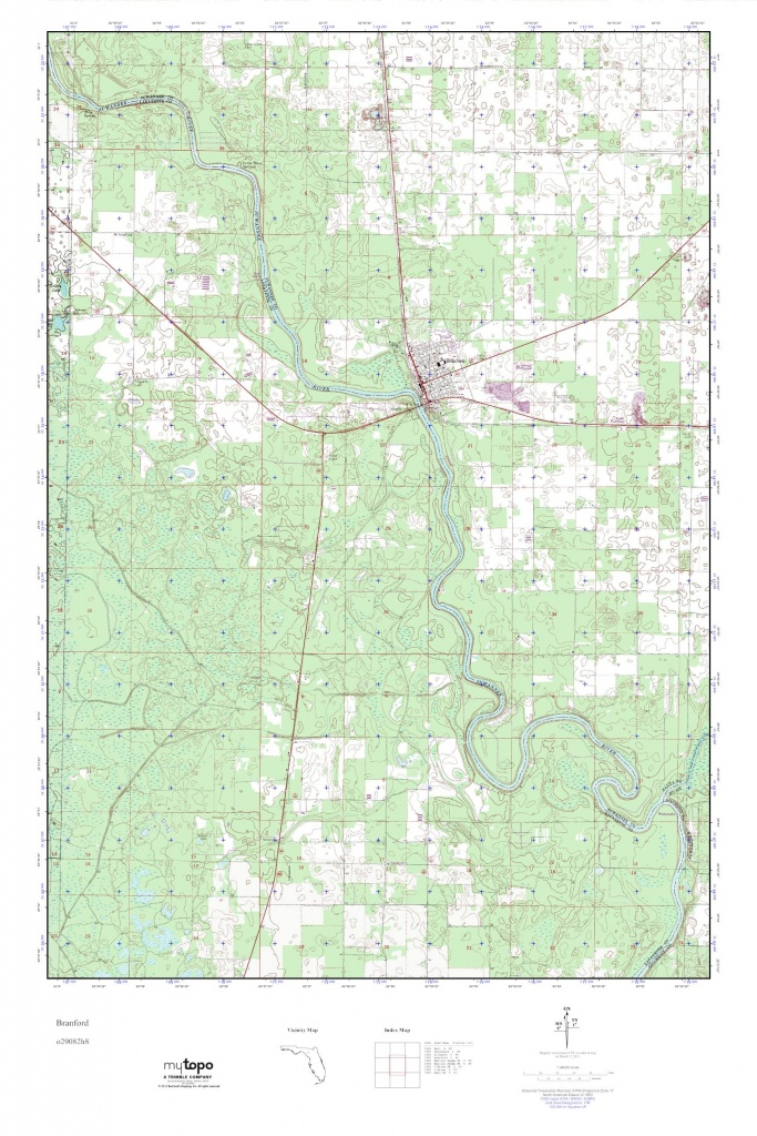 Mytopo Branford, Florida Usgs Quad Topo Map - Branford Florida Map