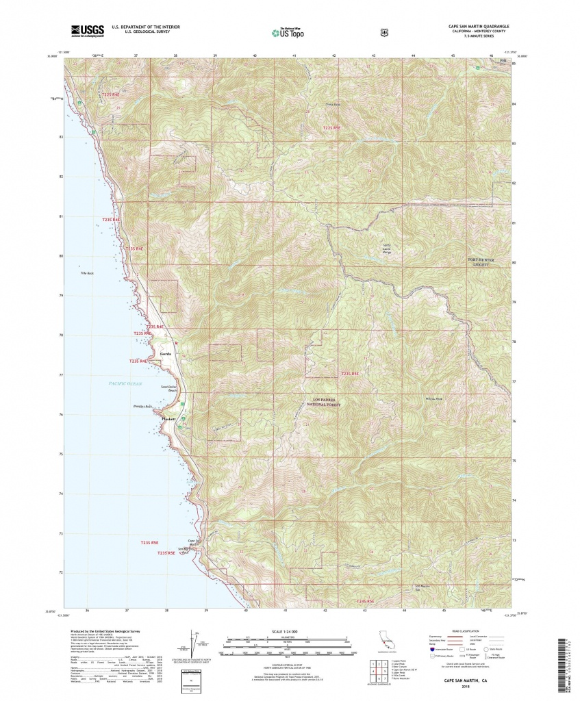 Mytopo Cape San Martin, California Usgs Quad Topo Map - San Martin California Map