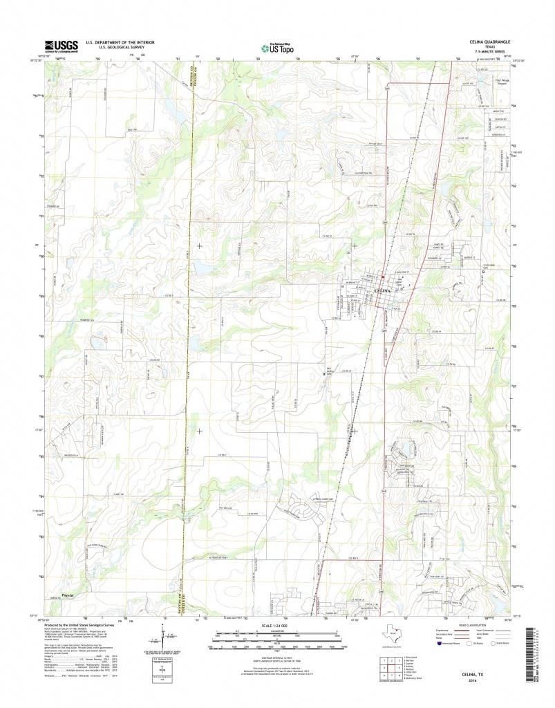 Mytopo Celina, Texas Usgs Quad Topo Map - Celina Texas Map