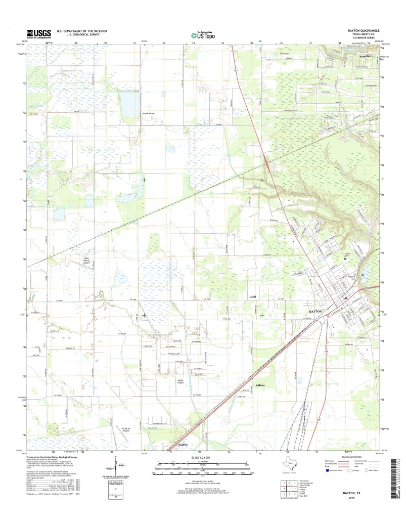 Mytopo Dayton, Texas Usgs Quad Topo Map - Dayton Texas Map