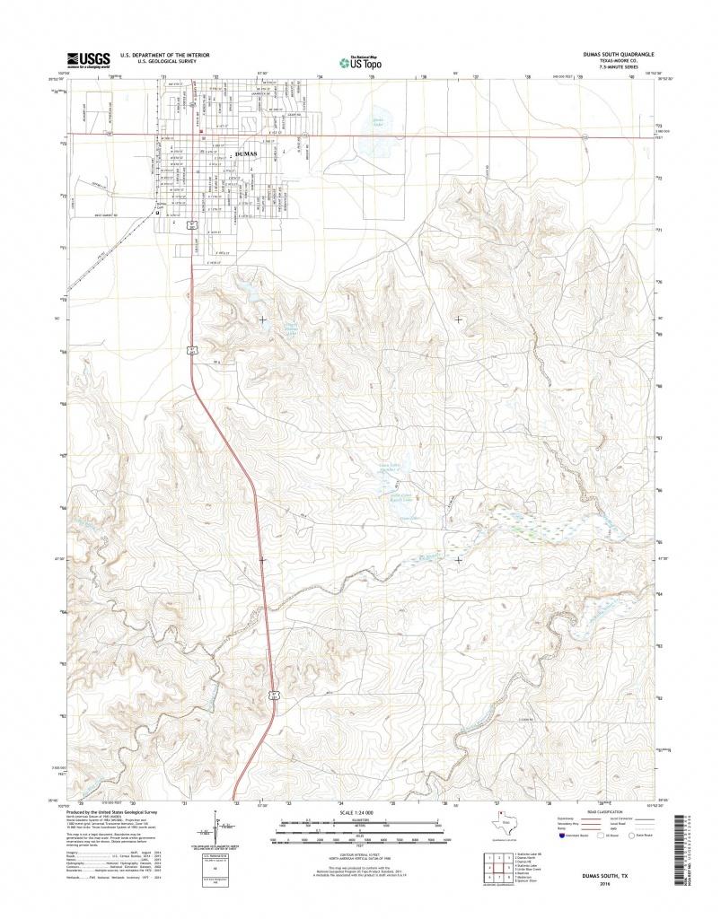 Mytopo Dumas South, Texas Usgs Quad Topo Map - Dumas Texas Map