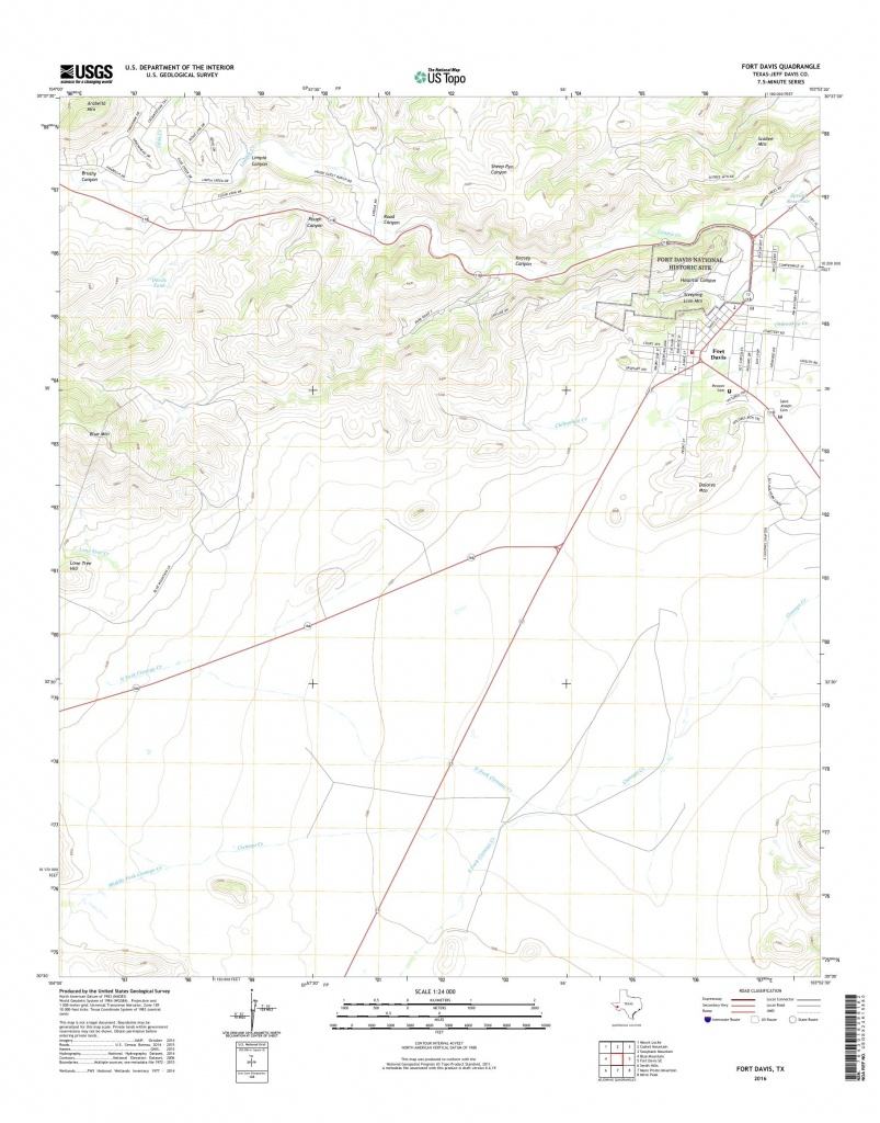 Mytopo Fort Davis, Texas Usgs Quad Topo Map - Fort Davis Texas Map