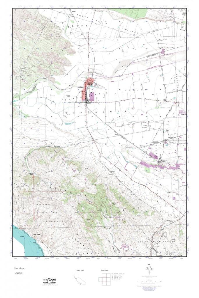 Mytopo Guadalupe, California Usgs Quad Topo Map - Guadalupe California Map