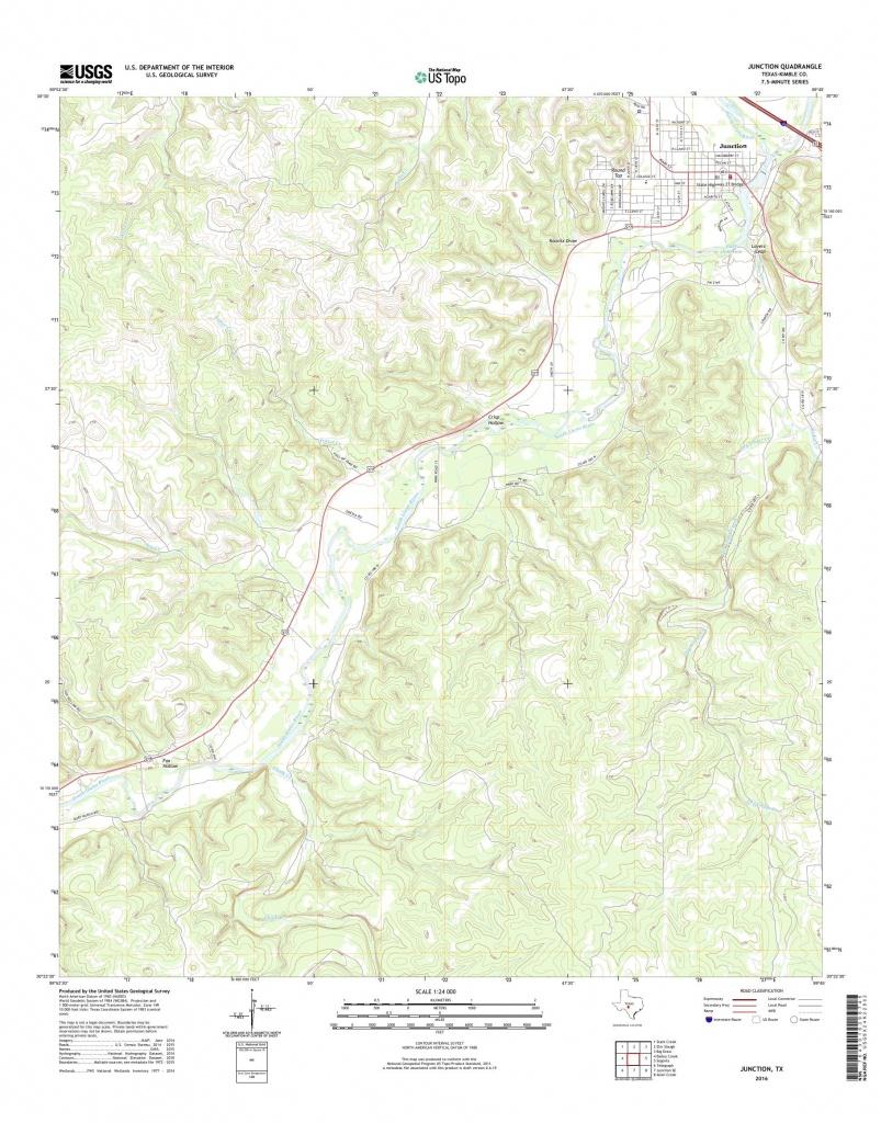 Mytopo Junction, Texas Usgs Quad Topo Map - Junction Texas Map
