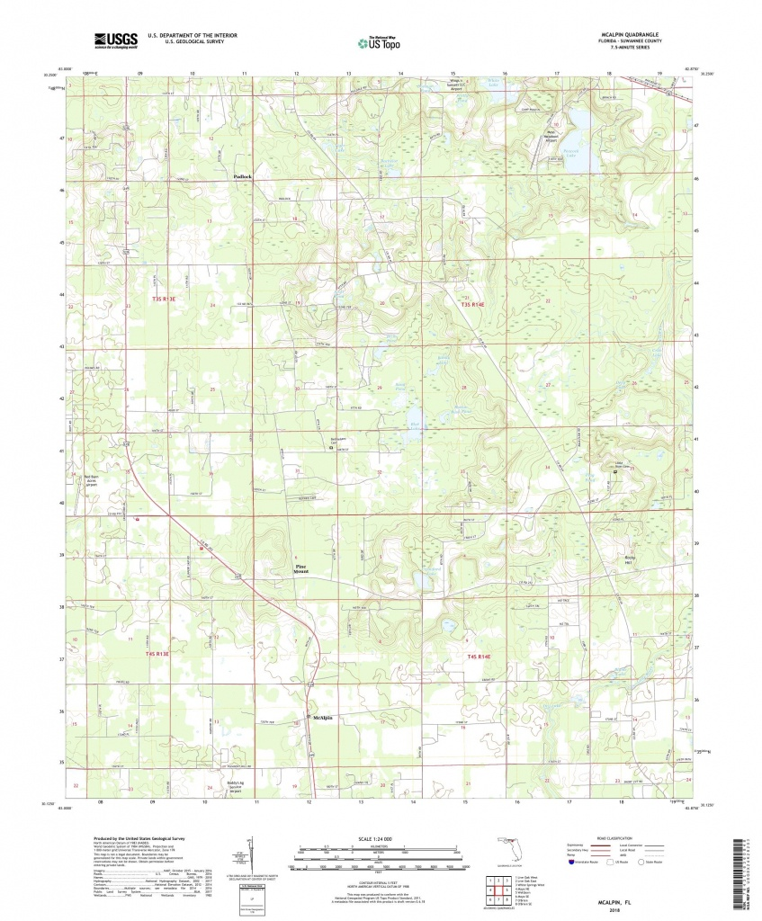 Mytopo Mcalpin, Florida Usgs Quad Topo Map - Mcalpin Florida Map