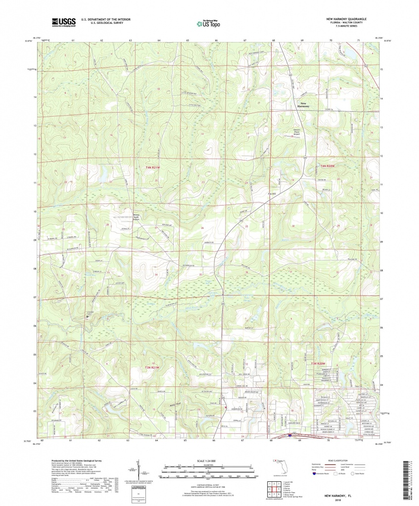 Mytopo New Harmony, Florida Usgs Quad Topo Map - Harmony Florida Map