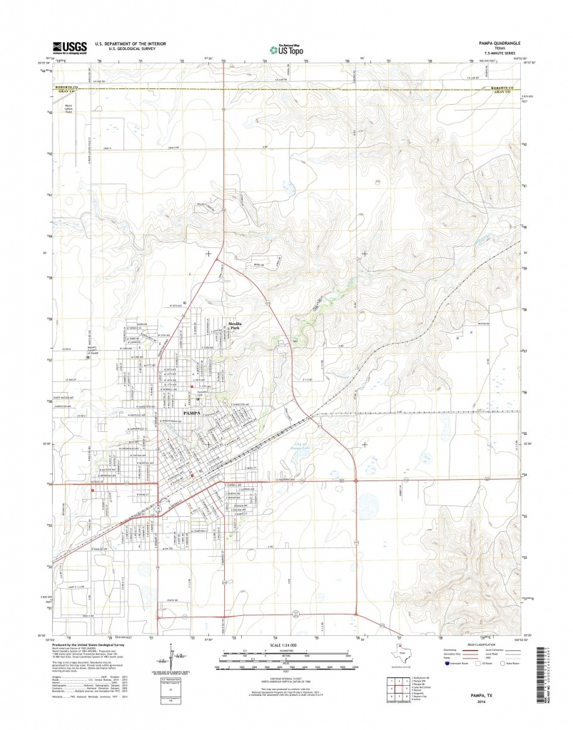 Mytopo Pampa, Texas Usgs Quad Topo Map - Pampa Texas Map