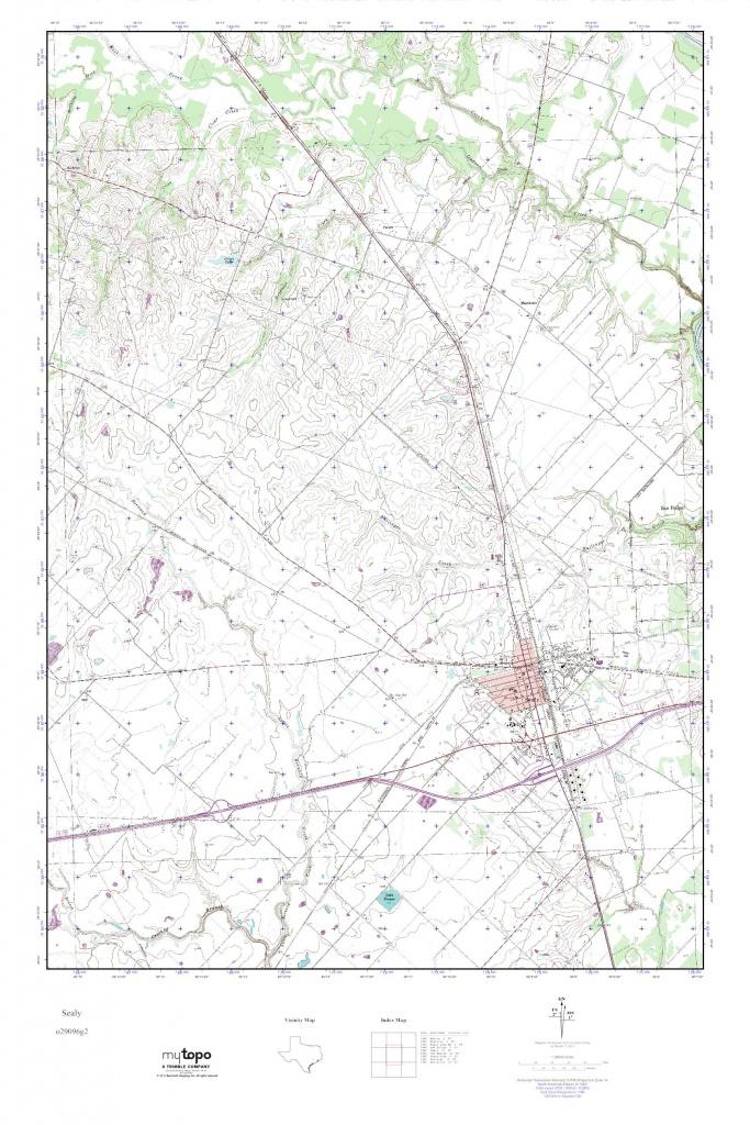 Mytopo Sealy, Texas Usgs Quad Topo Map - Sealy Texas Map