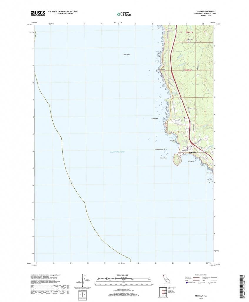 Mytopo Trinidad, California Usgs Quad Topo Map - Trinidad California Map