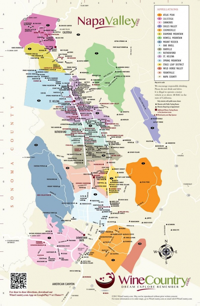 Napa Valley Wineries Map | An Adventure, A Journey, A Destination - Napa Valley California Map