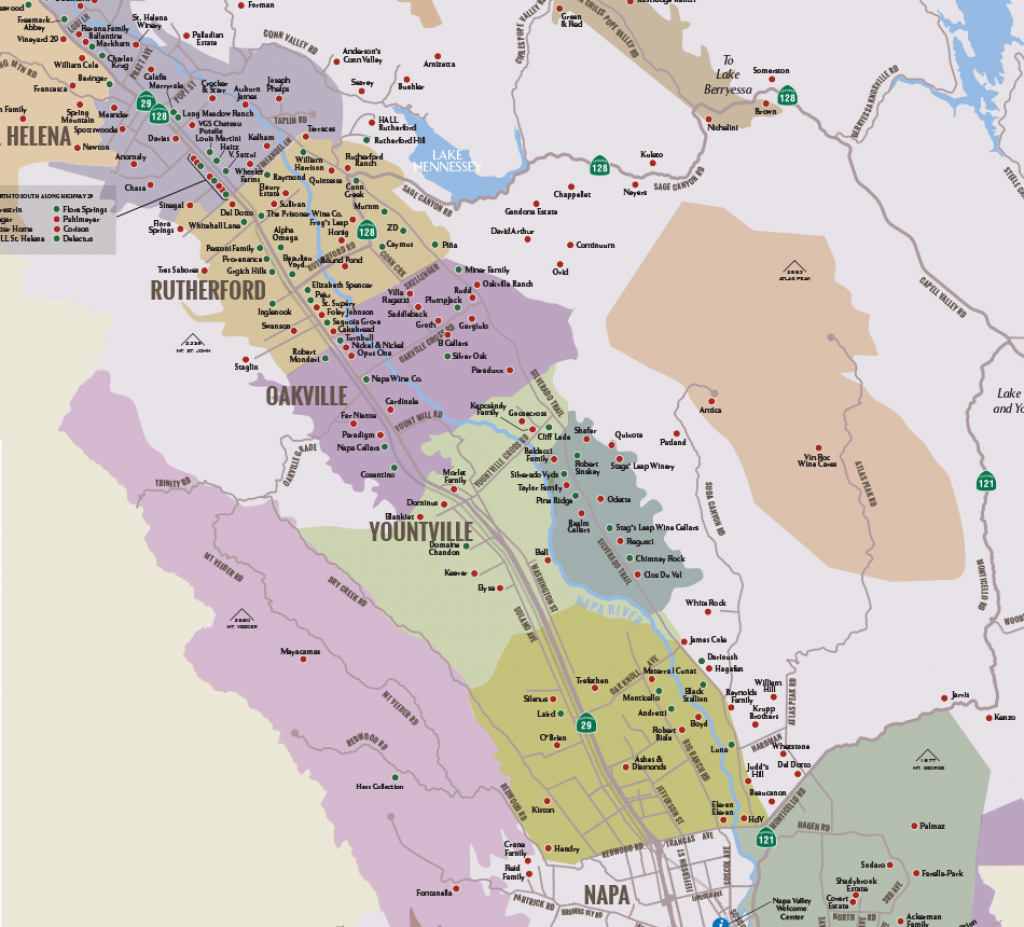Napa Valley Winery Map | Plan Your Visit To Our Wineries - California Vineyards Map