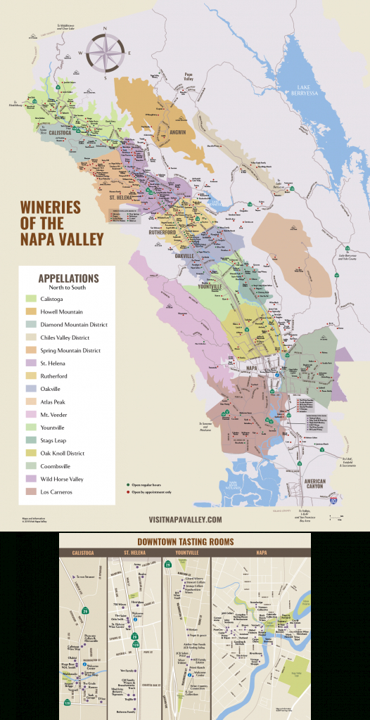 Napa Valley Winery Map | Plan Your Visit To Our Wineries - Wine Tasting California Map