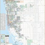 Naples & Collier Co, Fl Wall Map   Map Of Bonita Springs And Naples Florida