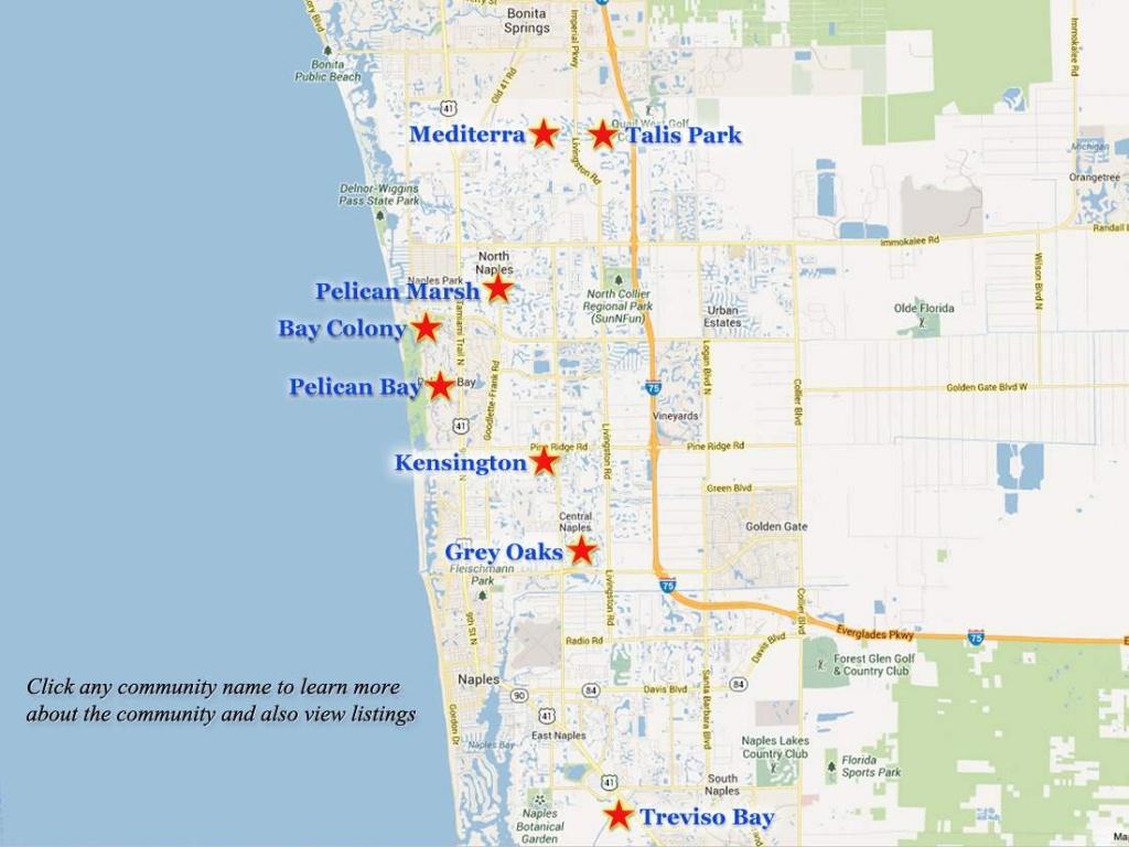 Naples-Golf-Communities-Map - Map Of Naples Florida Area