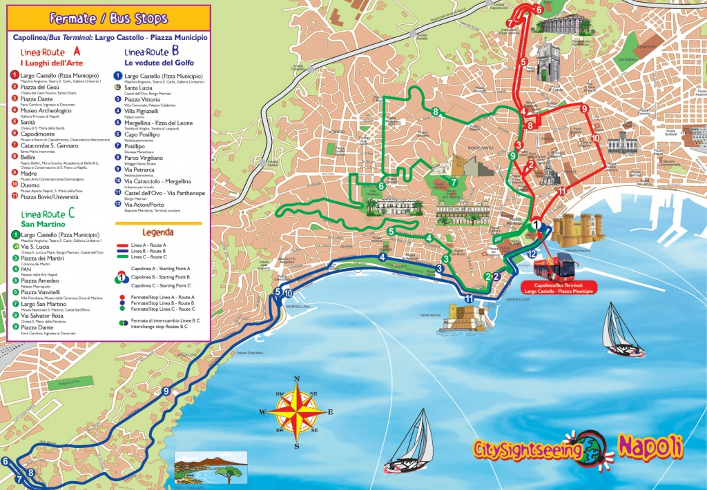 Naples Italy Cruise Port Of Call - Printable Street Map Of Sorrento Italy