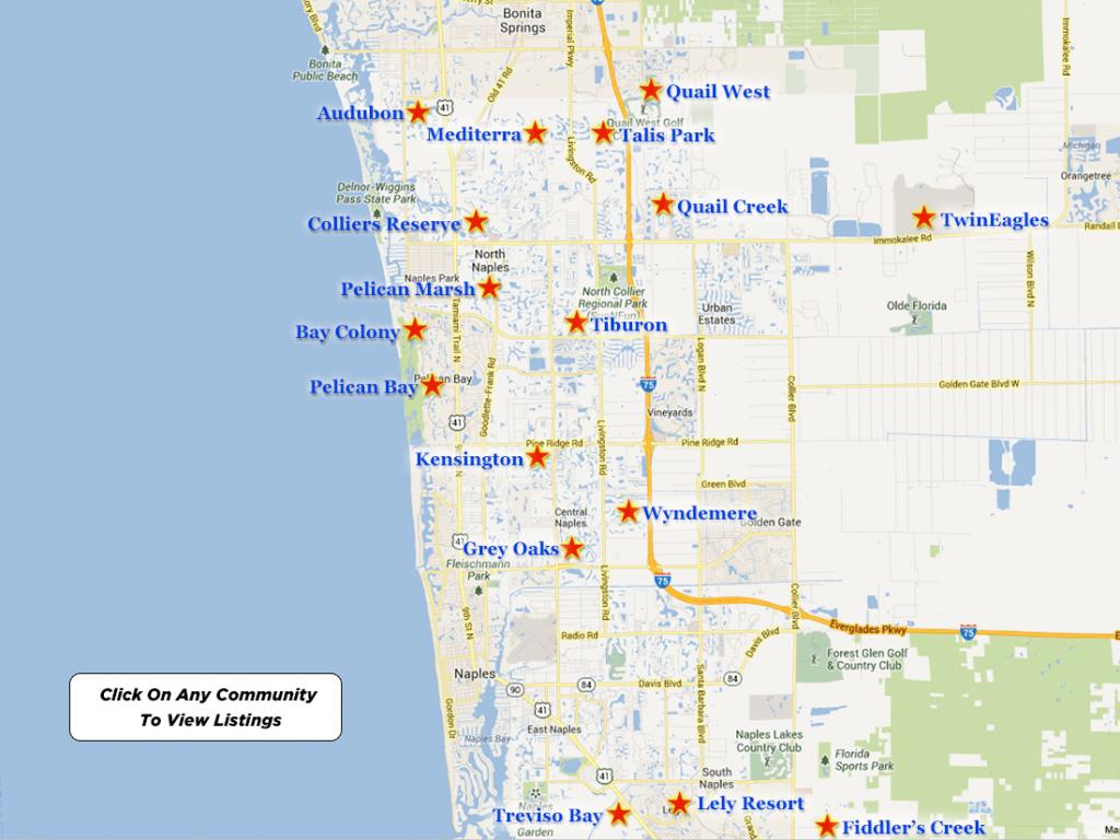 Naples Luxury Golf Real Estate - Map Of Naples Florida Neighborhoods
