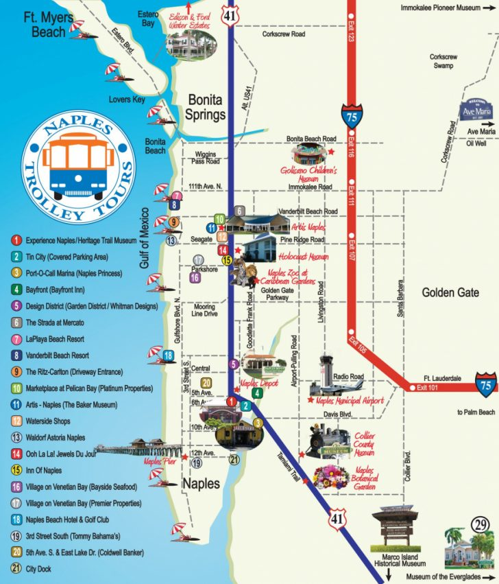 Map Of North Naples Florida