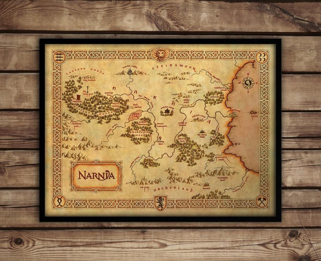 Narnia Map Narnia Art Print C S Lewis Fantasy Map   Etsy - Printable Map Of Narnia