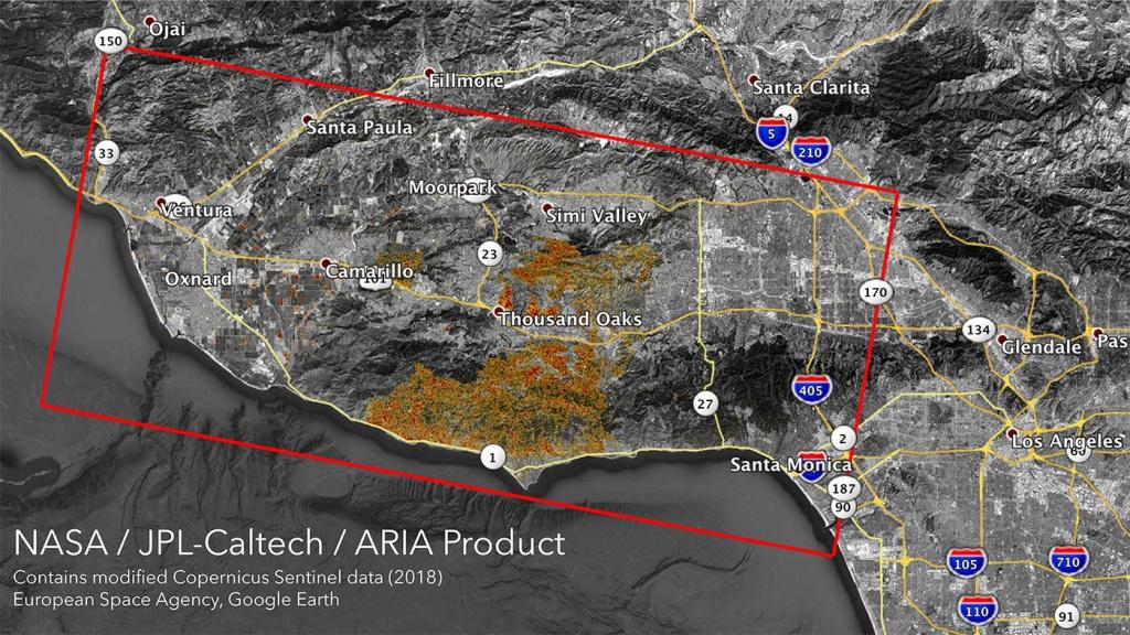 Nasa Satellites Map California Wildfires From Space - Satellite Map Of California