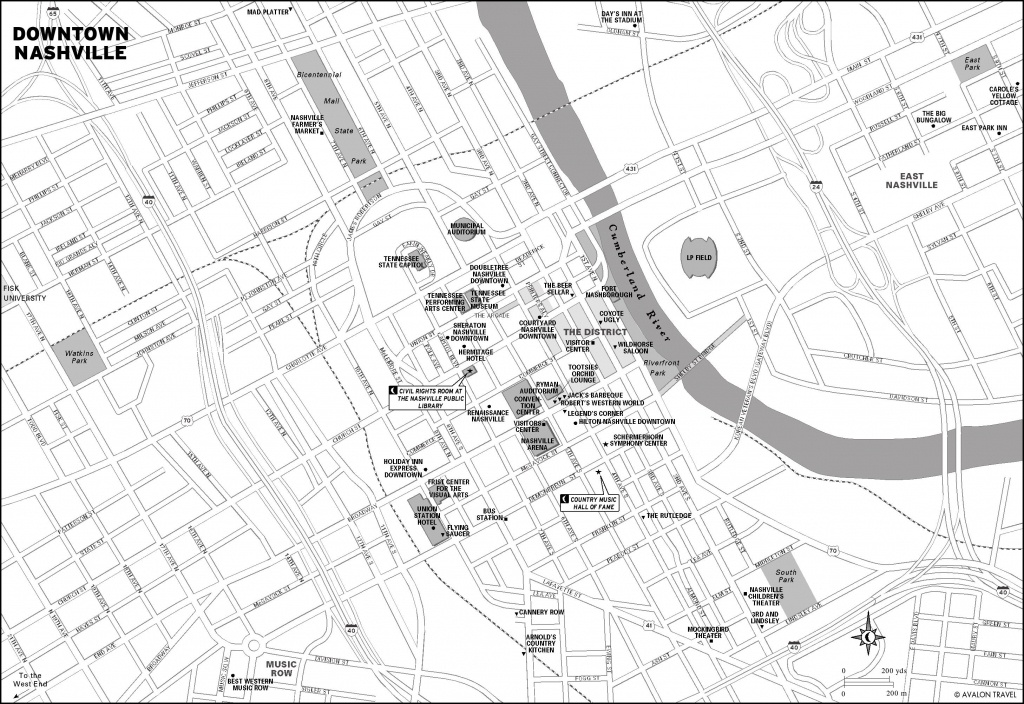 Nashville Map ~ Usa Map Guide 2016 - Printable Map Of Nashville Tn