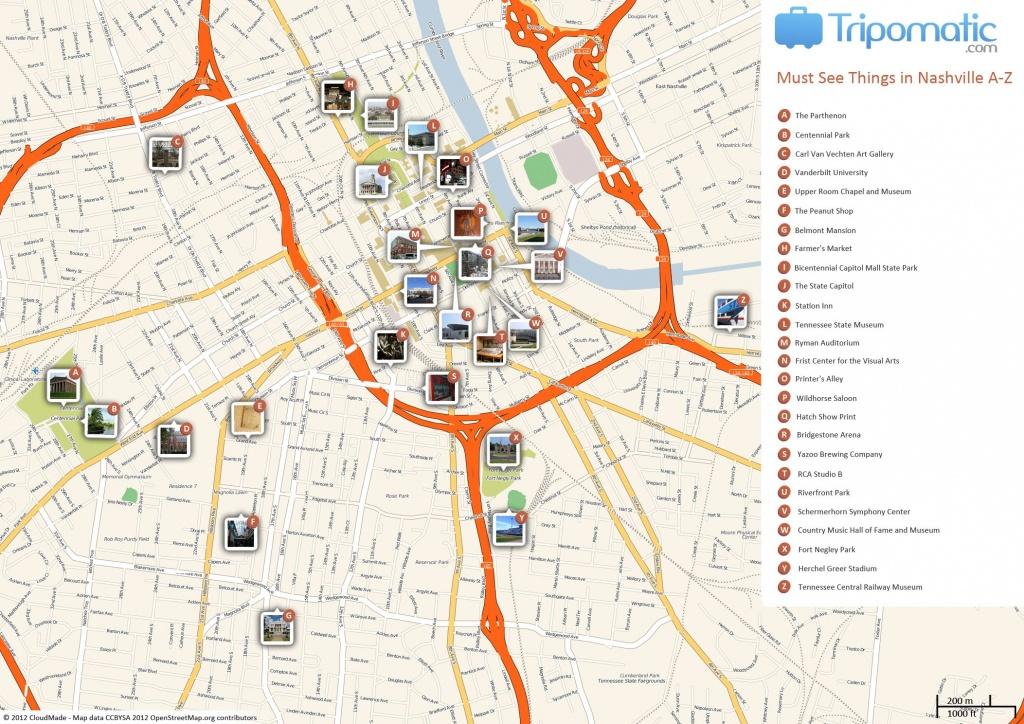 Nashville Printable Tourist Map | Free Tourist Maps ✈ | Nashville - Printable Map Of Nashville Tn