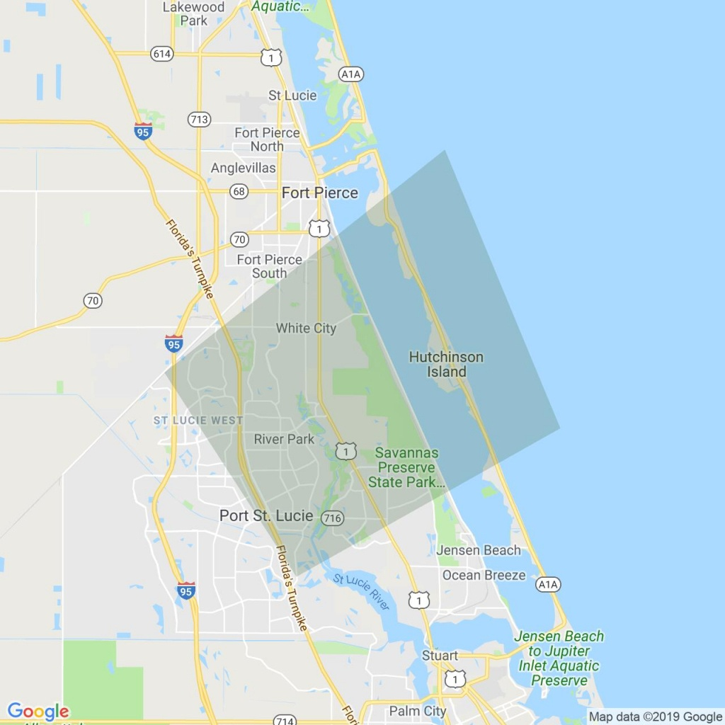 National Weather Service Issue Tornado Warning For St. Lucie, Fl - Hutchinson Island Florida Map