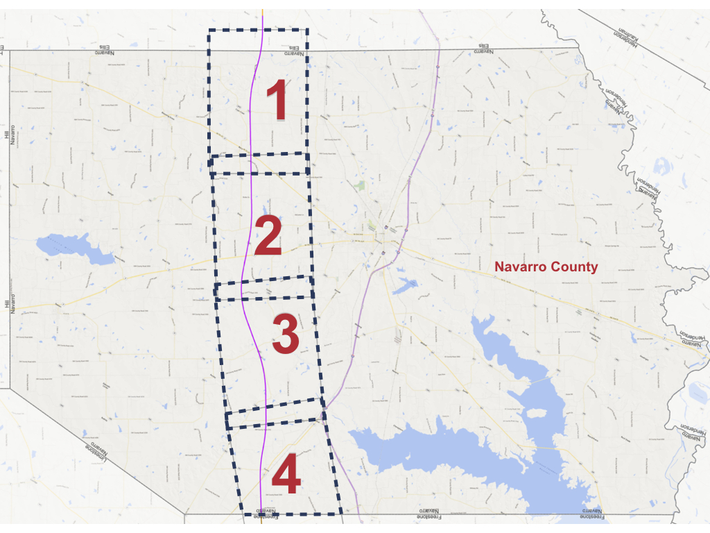 Navarro County Alignment Maps - Texas Central - Texas Bullet Train Route Map