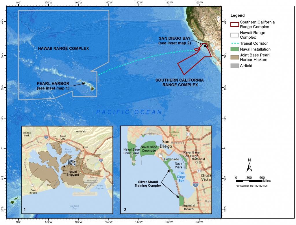 Navy Seeking To Extend Use Of Training Ranges In California, Hawaii - Hawaii California Map