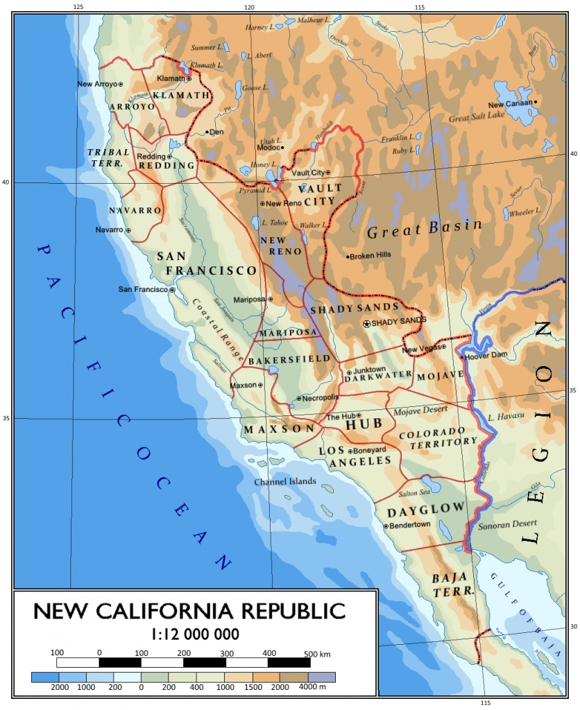 Ncr Territory - Cool Map! :-) | Fun And/or Cool Stuff | Map, Fallout - Map Of The New California Republic