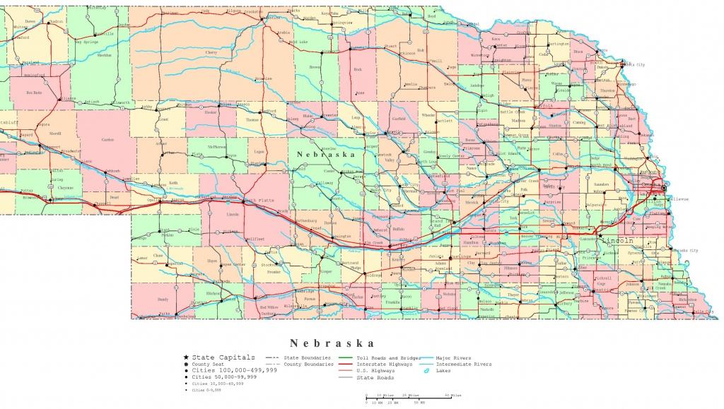 Nebraska Printable Map - Printable Map Of Nebraska