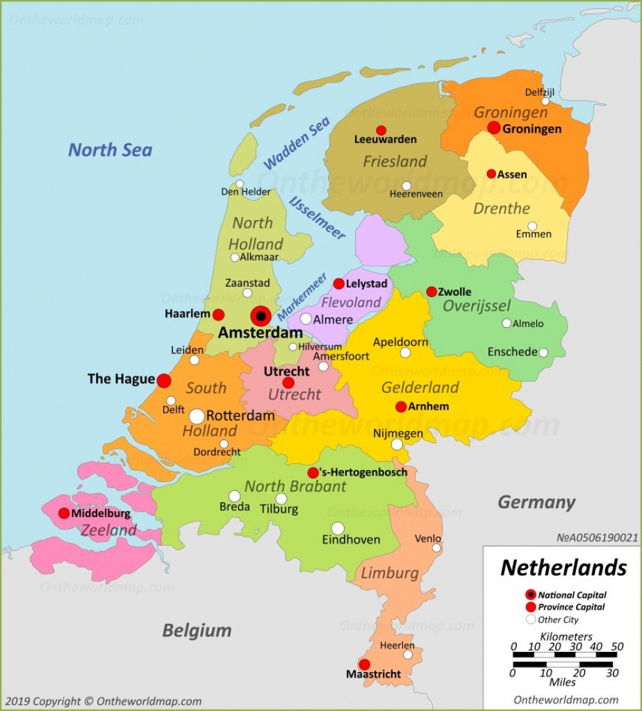Netherlands Maps | Maps Of Netherlands - Printable Map Of The Netherlands