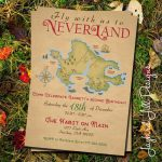 Neverland Birthday Party Invitation / Peter Pan Party / Treasure Map /  Peter Pan Birthday / Lost Boys Birthday / Neverland Party Printable   Neverland Map Printable